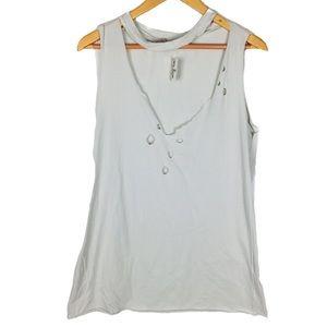 EZRA grunge holes t shirt extreme distressed top